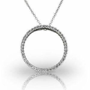 Jewelry - White Gold 18K 6 ct brilliant cut diamonds Circle